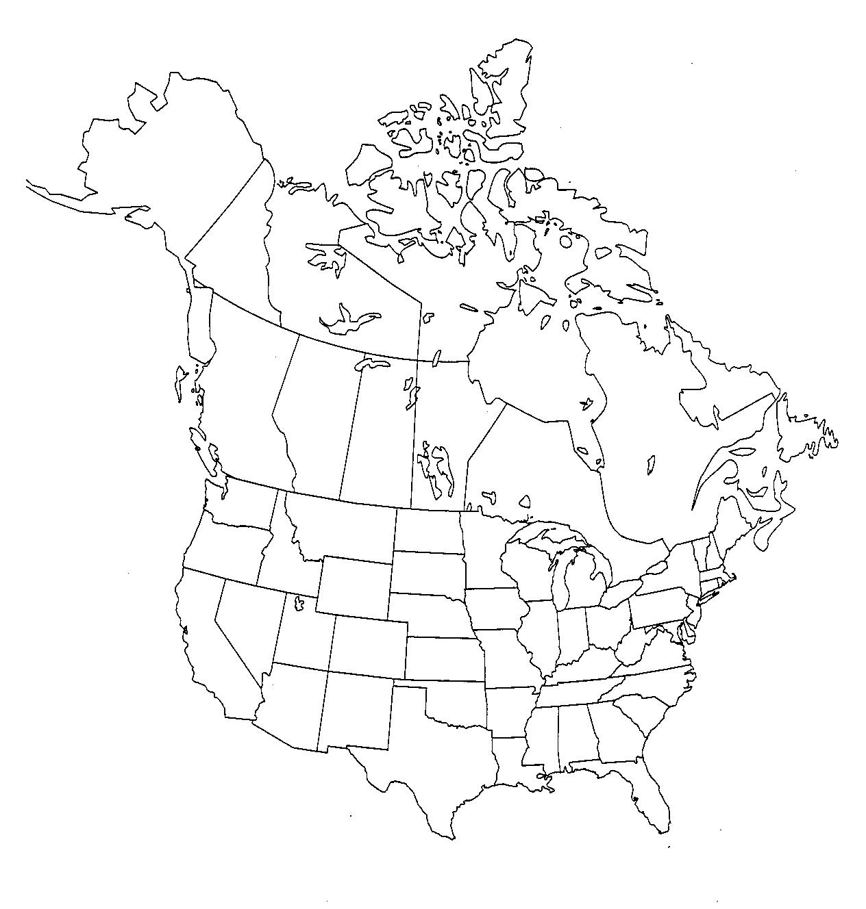 US And Canada Printable Blank Maps Royalty Free Clip Art Abcteach - Map of canada and us